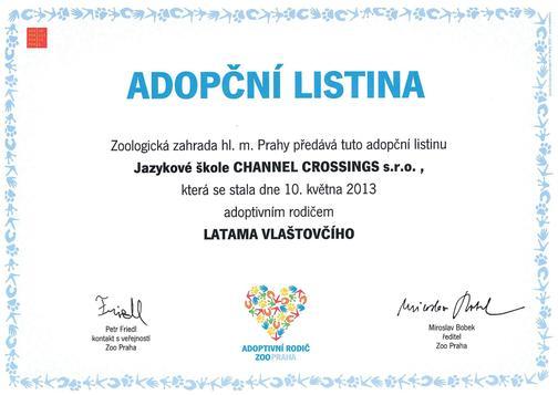Adopce latama vlaštovčího ze ZOO Praha