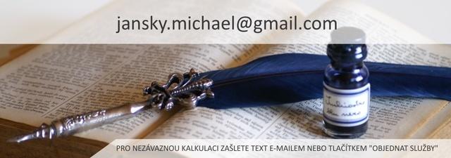 Překladatel Mgr. Michael Janský Plzeň 4