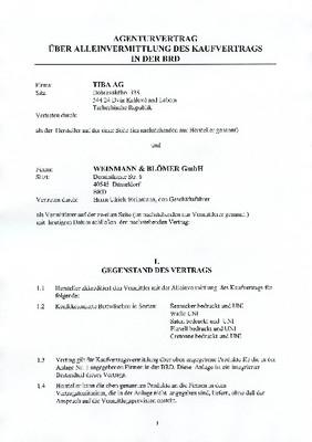 Ukázka úpravy a překladu smlouvy