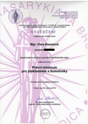 Mgr. et Mgr. Viera Boumová - Překladatelka - Brno-Královo Pole - ilustrační foto