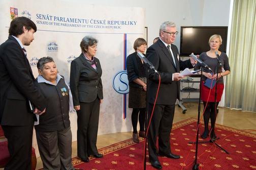 Tisková konference pro ČT v Senátu PČR
