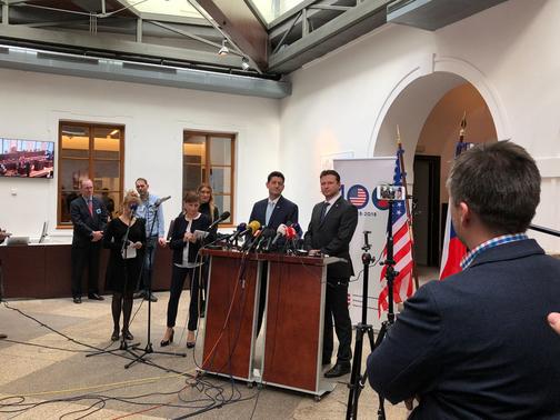 tisk. konference Paul Ryan, předseda Sněmovny reprezentantů USA, Poslanecká sněmovna 27.3.2018