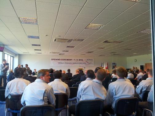 Hitachi Automotive Systems Czech - otevření nového závodu 11.9.2012