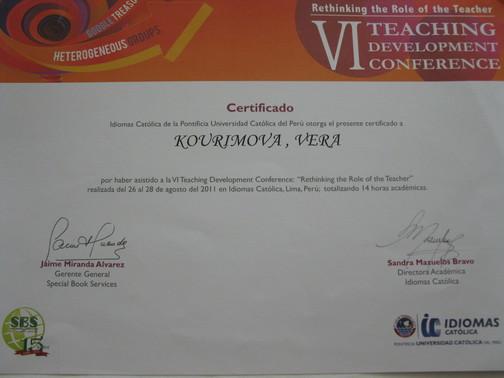 Osvědčení o účasti na jazykové konferenci